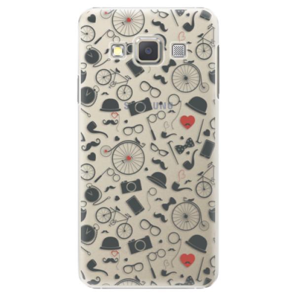 Plastové puzdro iSaprio - Vintage Pattern 01 - black - Samsung Galaxy A5