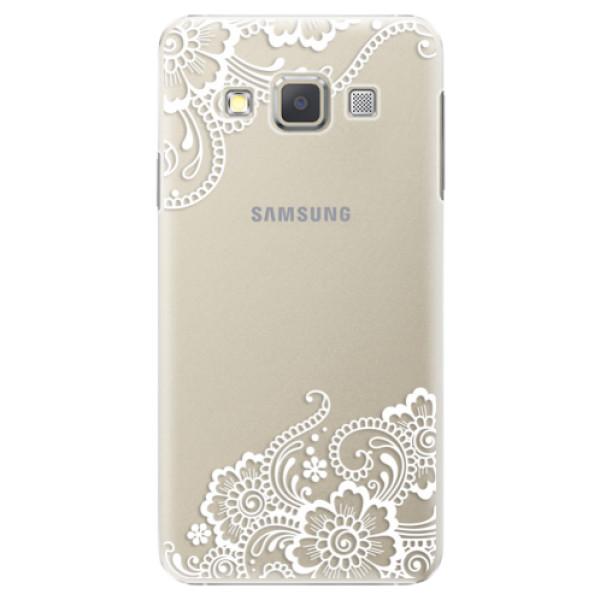Plastové puzdro iSaprio - White Lace 02 - Samsung Galaxy A5