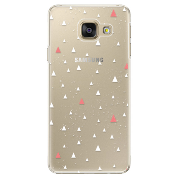 Plastové puzdro iSaprio - Abstract Triangles 02 - white - Samsung Galaxy A5 2016