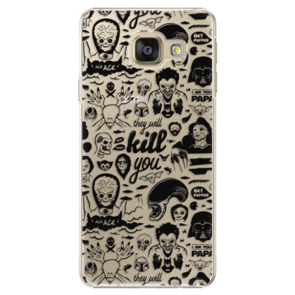 Plastové puzdro iSaprio - Comics 01 - black - Samsung Galaxy A5 2016