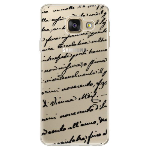 Plastové puzdro iSaprio - Handwriting 01 - black - Samsung Galaxy A5 2016