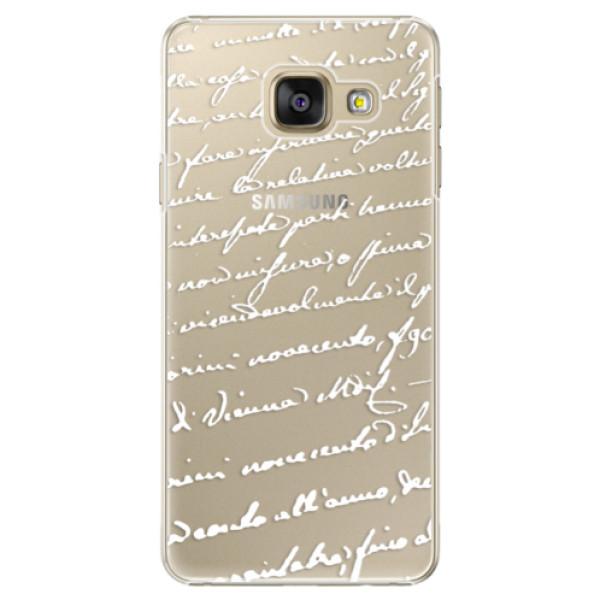 Plastové puzdro iSaprio - Handwriting 01 - white - Samsung Galaxy A5 2016
