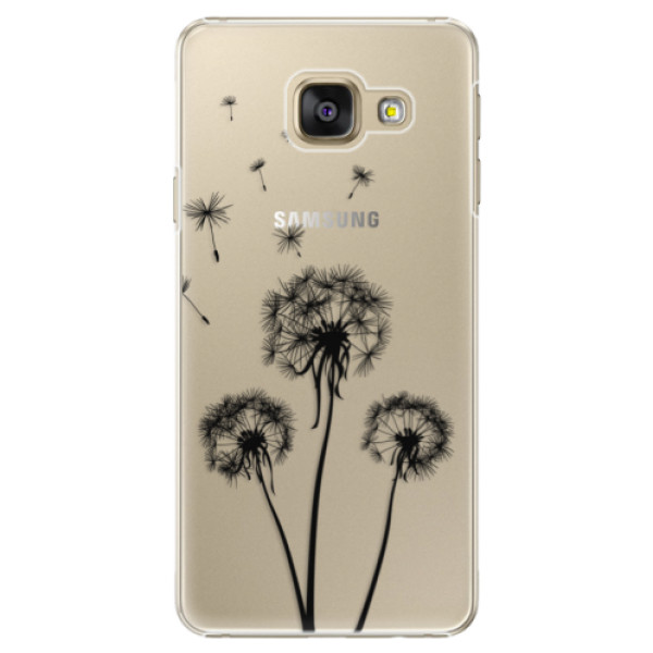 Plastové puzdro iSaprio - Three Dandelions - black - Samsung Galaxy A5 2016