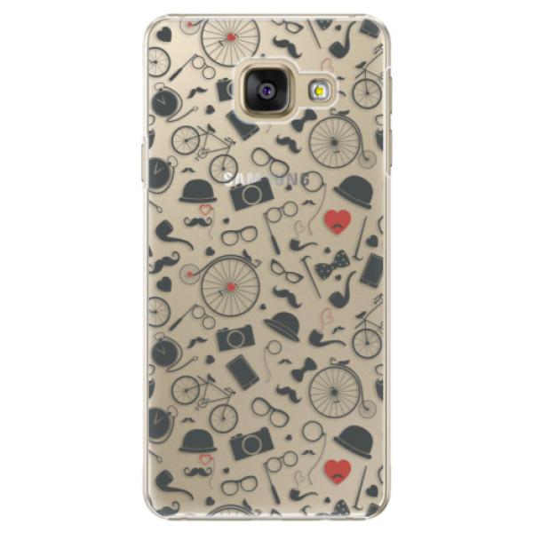 Plastové puzdro iSaprio - Vintage Pattern 01 - black - Samsung Galaxy A5 2016