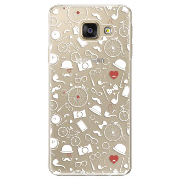 Plastové puzdro iSaprio - Vintage Pattern 01 - white - Samsung Galaxy A5 2016