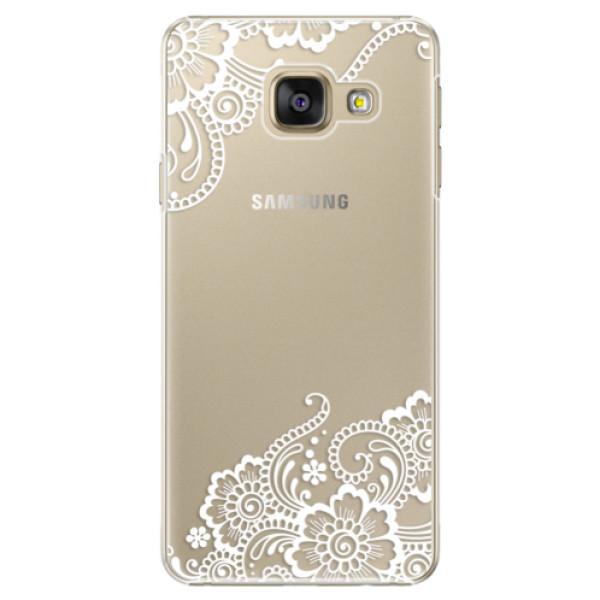 Plastové puzdro iSaprio - White Lace 02 - Samsung Galaxy A5 2016