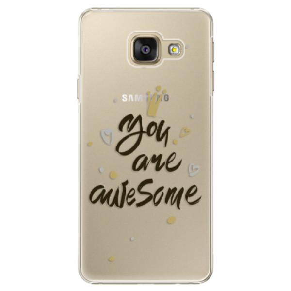Plastové puzdro iSaprio - You Are Awesome - black - Samsung Galaxy A5 2016