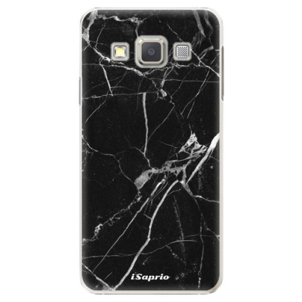 Plastové puzdro iSaprio - Black Marble 18 - Samsung Galaxy A7