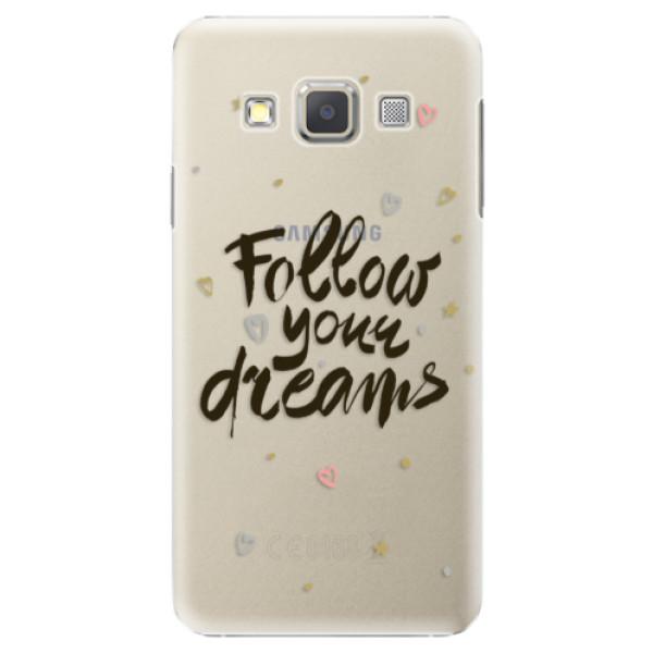 Plastové puzdro iSaprio - Follow Your Dreams - black - Samsung Galaxy A7