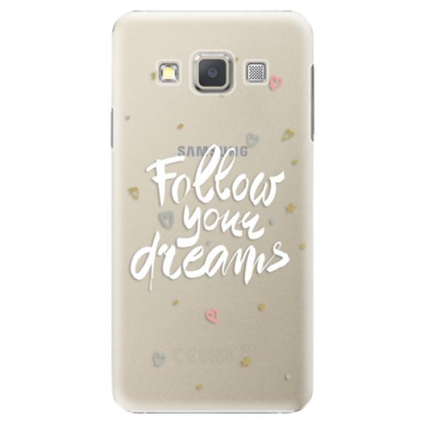 Plastové puzdro iSaprio - Follow Your Dreams - white - Samsung Galaxy A7