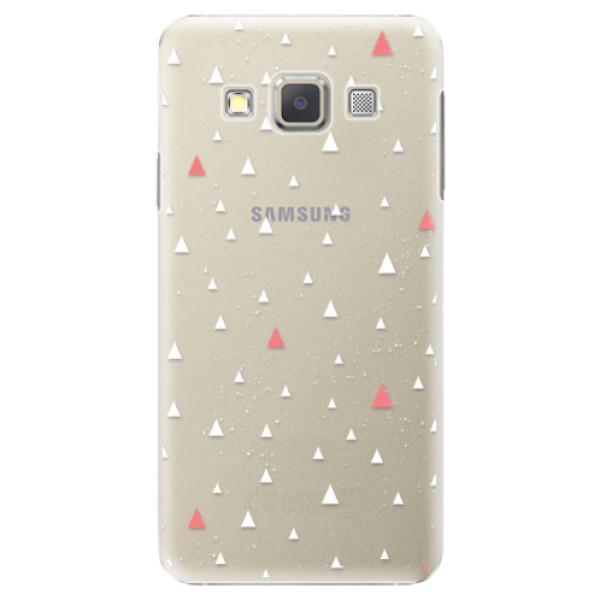 Plastové puzdro iSaprio - Abstract Triangles 02 - white - Samsung Galaxy A7