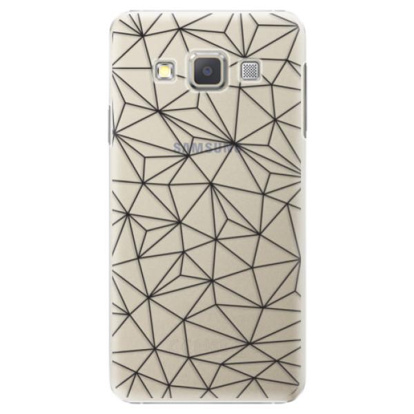 Plastové puzdro iSaprio - Abstract Triangles 03 - black - Samsung Galaxy A7