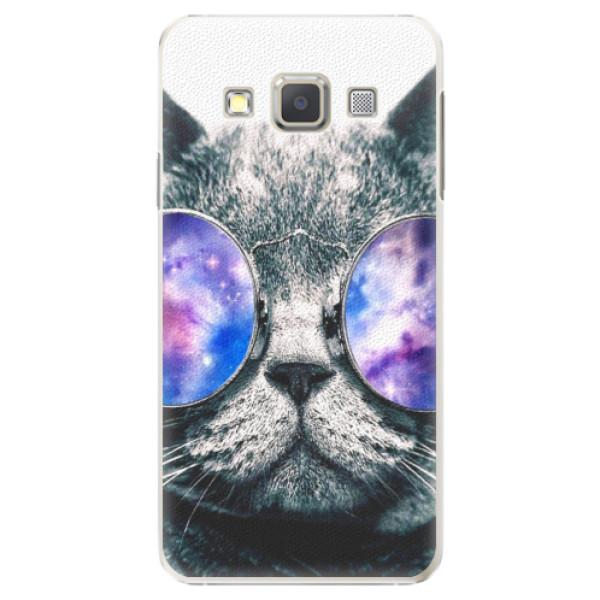 Plastové puzdro iSaprio - Galaxy Cat - Samsung Galaxy A7