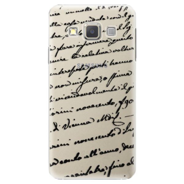 Plastové puzdro iSaprio - Handwriting 01 - black - Samsung Galaxy A7