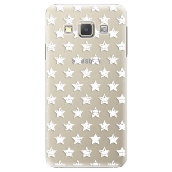 Plastové puzdro iSaprio - Stars Pattern - white - Samsung Galaxy A7