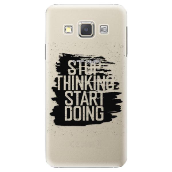 Plastové puzdro iSaprio - Start Doing - black - Samsung Galaxy A7