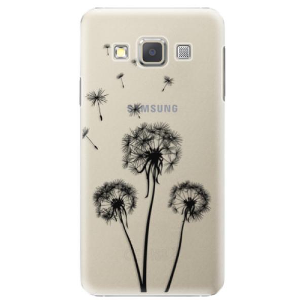 Plastové puzdro iSaprio - Three Dandelions - black - Samsung Galaxy A7