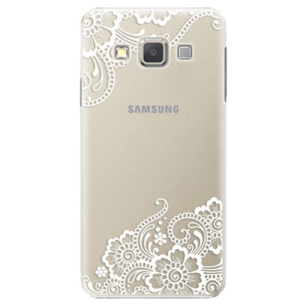 Plastové puzdro iSaprio - White Lace 02 - Samsung Galaxy A7