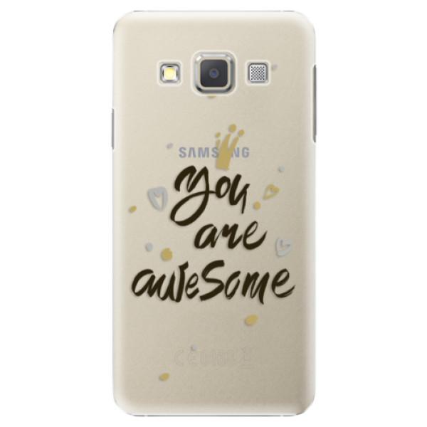 Plastové puzdro iSaprio - You Are Awesome - black - Samsung Galaxy A7