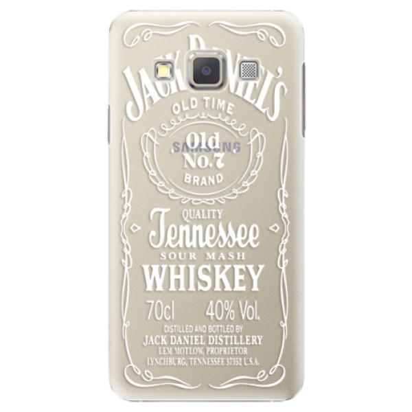 Plastové puzdro iSaprio - Transparent White Jack - Samsung Galaxy A7