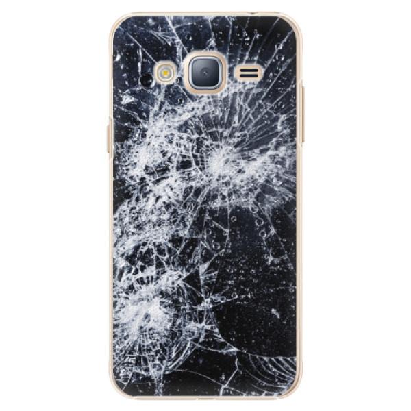 Plastové puzdro iSaprio - Cracked - Samsung Galaxy J3 2016