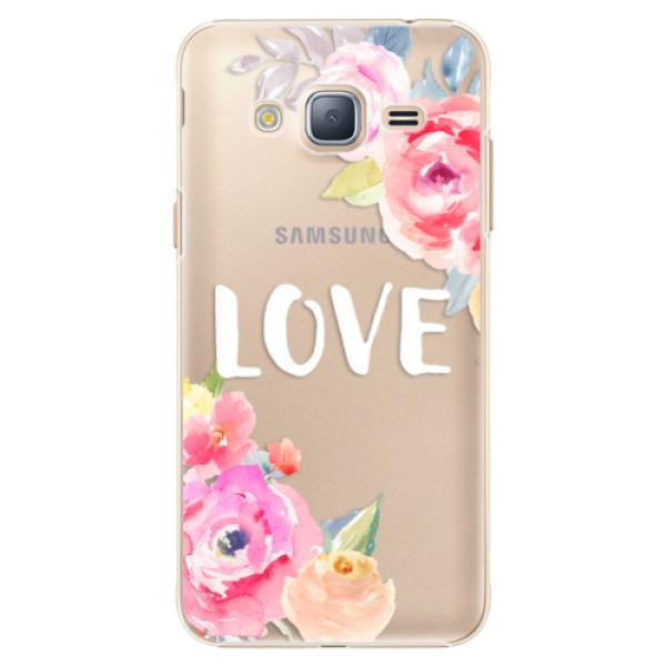 Plastové puzdro iSaprio - Love - Samsung Galaxy J3 2016