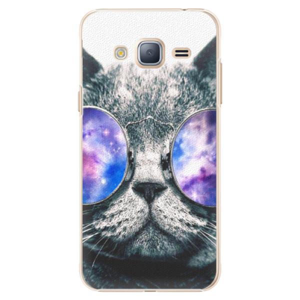 Plastové puzdro iSaprio - Galaxy Cat - Samsung Galaxy J3 2016
