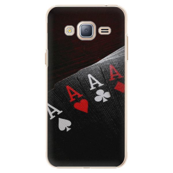 Plastové puzdro iSaprio - Poker - Samsung Galaxy J3 2016
