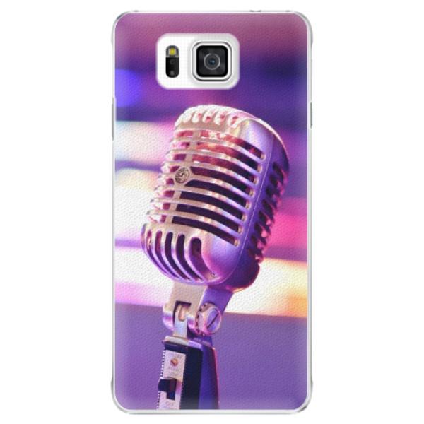 Plastové puzdro iSaprio - Vintage Microphone - Samsung Galaxy Alpha