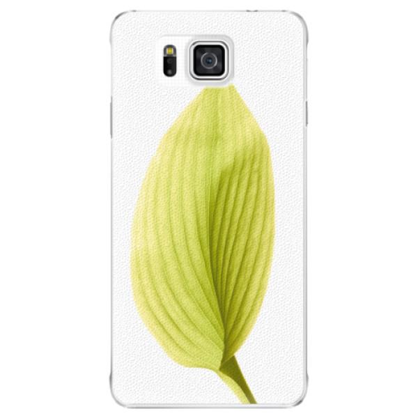 Plastové puzdro iSaprio - Green Leaf - Samsung Galaxy Alpha