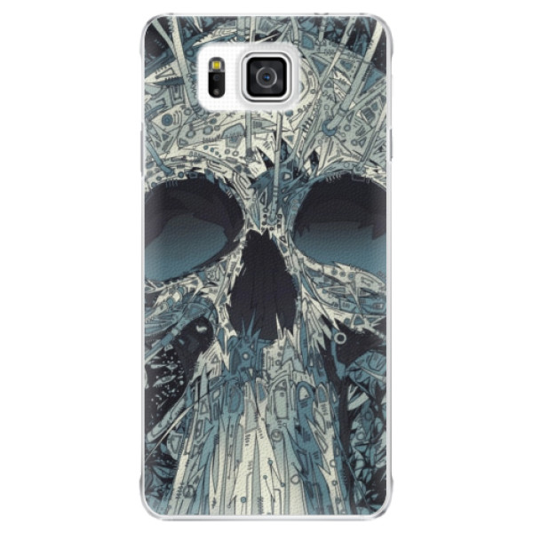 Plastové puzdro iSaprio - Abstract Skull - Samsung Galaxy Alpha