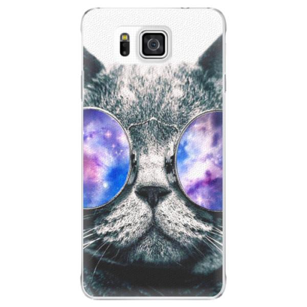 Plastové puzdro iSaprio - Galaxy Cat - Samsung Galaxy Alpha
