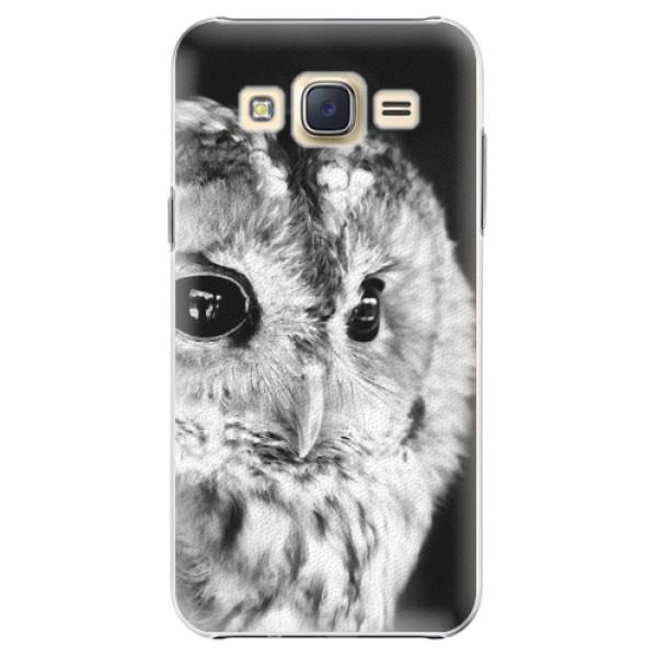 Plastové puzdro iSaprio - BW Owl - Samsung Galaxy Core Prime