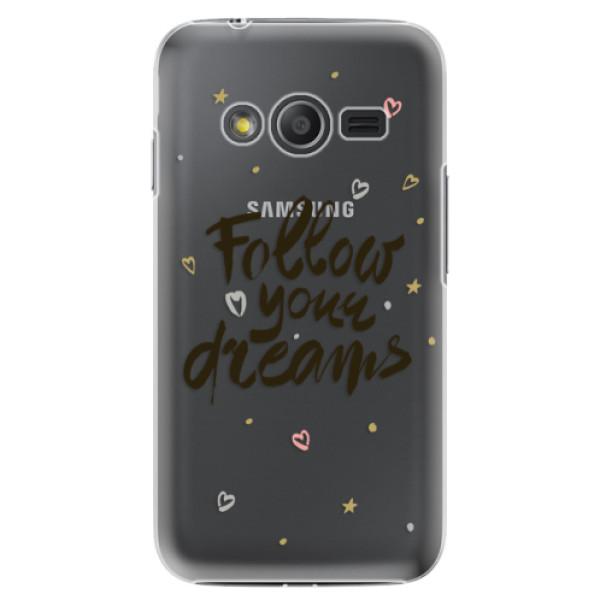 Plastové puzdro iSaprio - Follow Your Dreams - black - Samsung Galaxy Trend 2 Lite