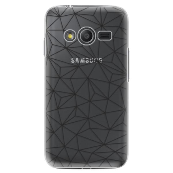 Plastové puzdro iSaprio - Abstract Triangles 03 - black - Samsung Galaxy Trend 2 Lite