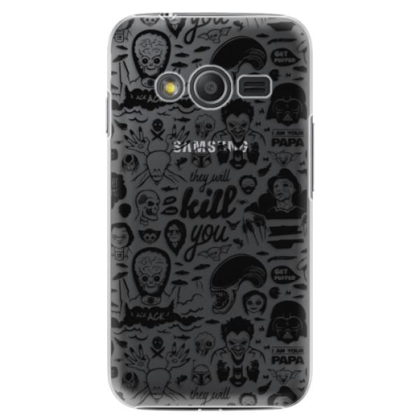 Plastové puzdro iSaprio - Comics 01 - black - Samsung Galaxy Trend 2 Lite
