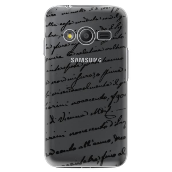Plastové puzdro iSaprio - Handwriting 01 - black - Samsung Galaxy Trend 2 Lite
