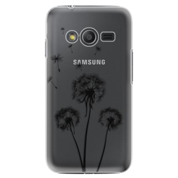 Plastové puzdro iSaprio - Three Dandelions - black - Samsung Galaxy Trend 2 Lite