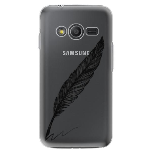 Plastové puzdro iSaprio - Writing By Feather - black - Samsung Galaxy Trend 2 Lite