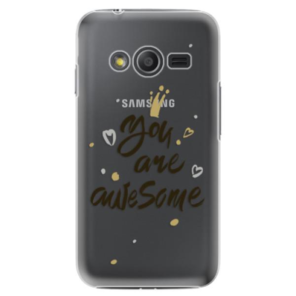 Plastové puzdro iSaprio - You Are Awesome - black - Samsung Galaxy Trend 2 Lite