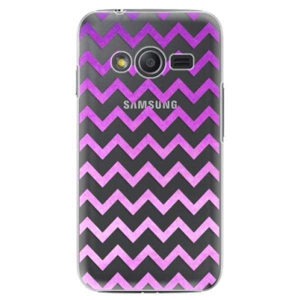 Plastové puzdro iSaprio - Zigzag - purple - Samsung Galaxy Trend 2 Lite