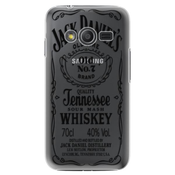 Plastové puzdro iSaprio - Transparent Black Jack - Samsung Galaxy Trend 2 Lite