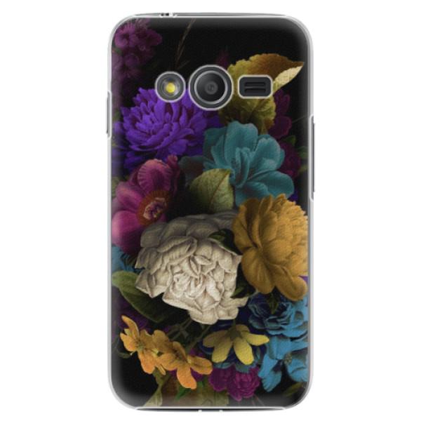 Plastové puzdro iSaprio - Dark Flowers - Samsung Galaxy Trend 2 Lite