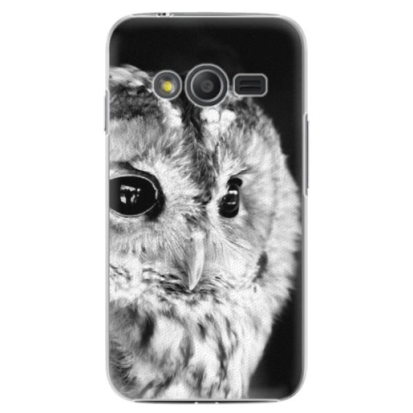 Plastové puzdro iSaprio - BW Owl - Samsung Galaxy Trend 2 Lite