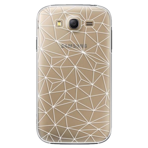 Plastové puzdro iSaprio - Abstract Triangles 03 - white - Samsung Galaxy Grand Neo Plus