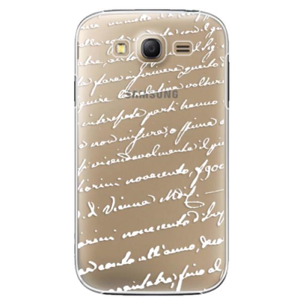 Plastové puzdro iSaprio - Handwriting 01 - white - Samsung Galaxy Grand Neo Plus