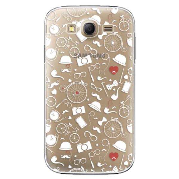 Plastové puzdro iSaprio - Vintage Pattern 01 - white - Samsung Galaxy Grand Neo Plus