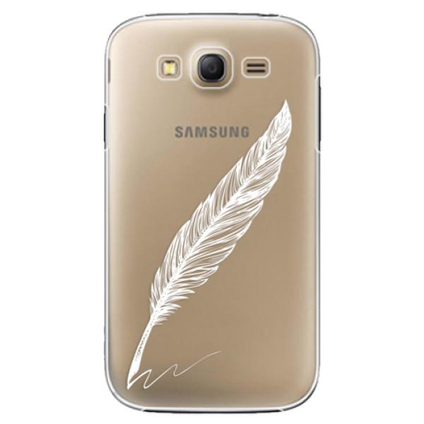 Plastové puzdro iSaprio - Writing By Feather - white - Samsung Galaxy Grand Neo Plus