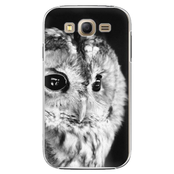Plastové puzdro iSaprio - BW Owl - Samsung Galaxy Grand Neo Plus