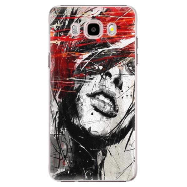 Plastové puzdro iSaprio - Sketch Face - Samsung Galaxy J5 2016